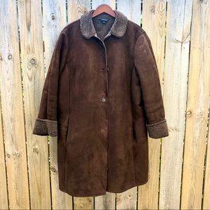 Lands' End   Long Faux Shearling Coat